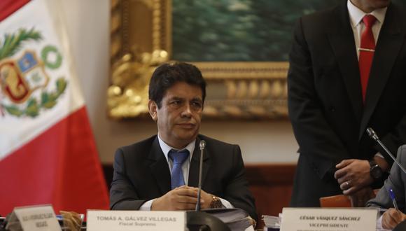 Tomas Gálvez, es fiscal supremo, viene siendo procesado ante la Junta Nacional de Justicia (JNJ).