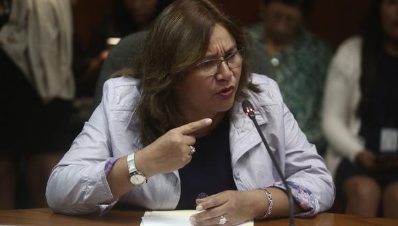 Janet Sánchez criticó que el vocero de Fuerza Popular no firmó documento para solicitar ampliación de la agenda del pleno. (FOTO: GEC)