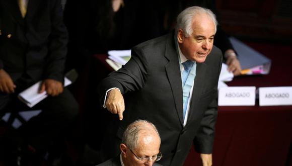Alberto Borea, el abogado de PPK, fue el destacado de la jornada de ayer. (Foto: Reuters)