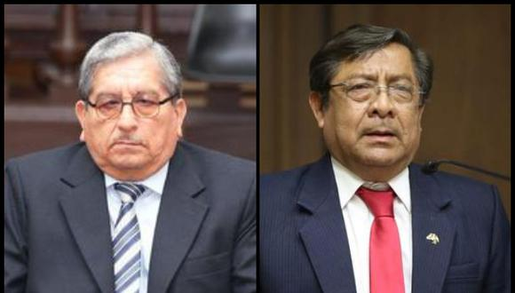 Los exmiembros del Consejo Nacional de la Magistratura (CNM) Julio Gutiérrez Pebe y Orlando Velásquez. Foto: Poder Judicial/ Congreso