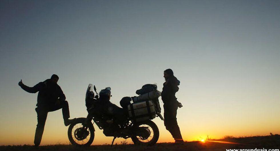 Los trotamundos de la motocicleta