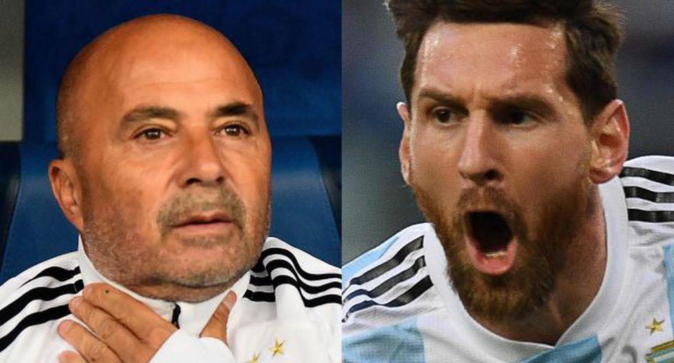 Jorge Sampaoli y Lionel Messi. (Fotos: Agencias)