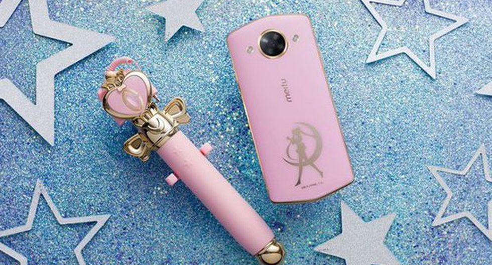 Así lucirá el nuevo smartphone inspirado en las aventuras de la princesa de la Luna, Sailor Moon. (Foto: Twitter @meituofficial)