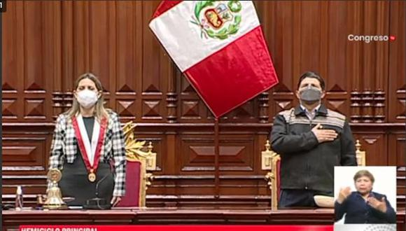 Presidente Pedro Castillo participa en ceremonia solemne en el Congreso
