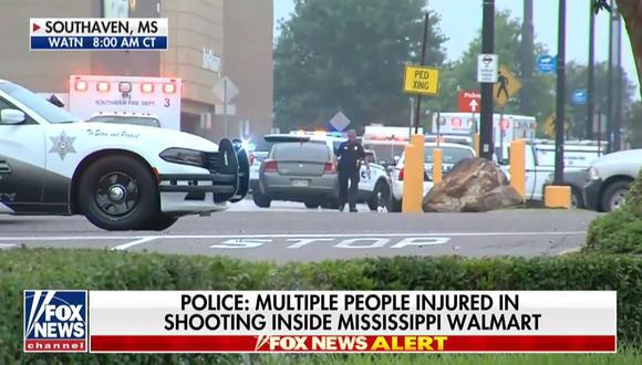 Tiroteo en tienda Walmart de Mississippi dejó dos muertos, según prensa. (Foto: Captura Fox News)