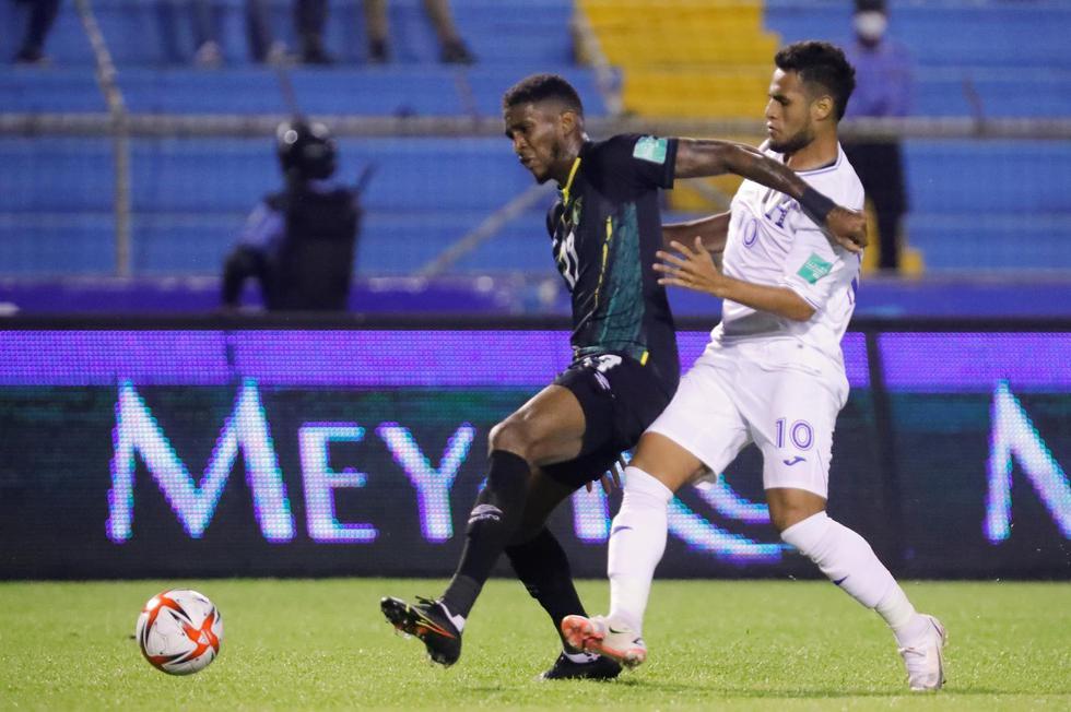 Honduras - Jamaica por Eliminatorias Qatar 2022. (Foto: EFE)
