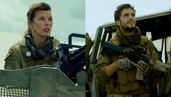 "Milla Jovovich y Diego Boneta juntos en el tráiler oficial de ""Monster Hunter"". (Foto: Captura de video)"