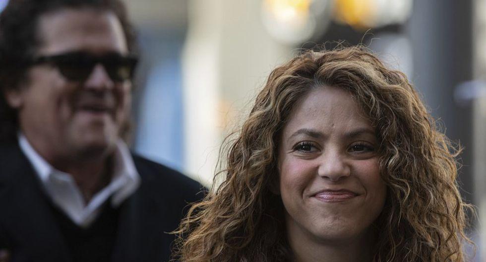 Shakira y Carlos Vives en  Juzgado de lo Mercantil número 12 de Madrid. (Fotos: Agencias)