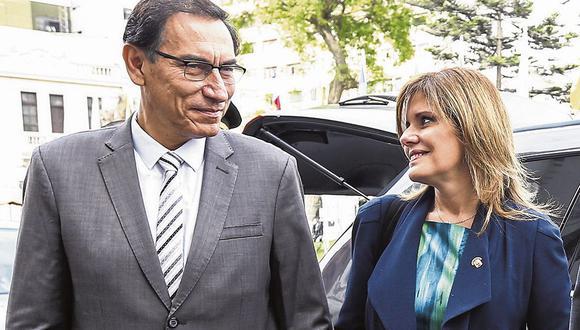 El presidente Martín Vizcarra y la vicepresidenta Mercedes Araoz forjaron una amistad desde el 2015. (Foto: Congreso de la República)