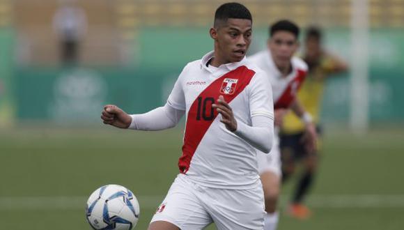 Kevin Quevedo con la selección peruana sub-23. (Foto: GEC)