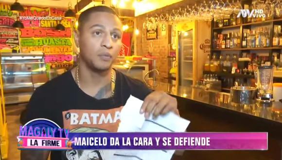 Jonathan Maicelo se defiende tras ser acusado de agredir a su exsocia de 63 años. (Foto: Captura de video)