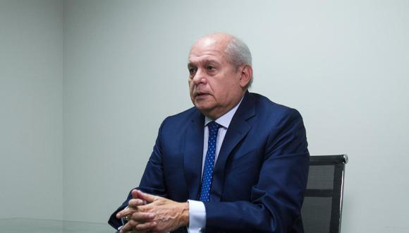 Pedro Cateriano informó de su afiliación al partido Todos por el Perú este martes. (Foto: El Comercio)