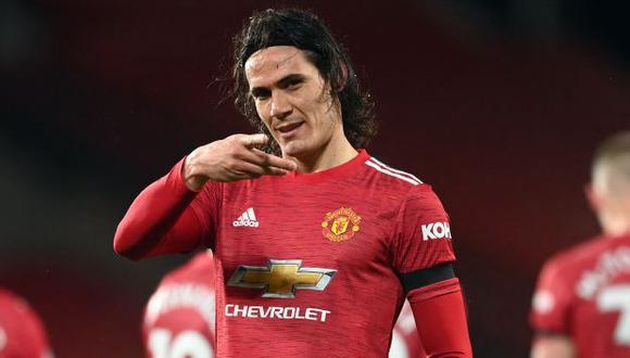 Edinson Cavani tiene 15 goles con camiseta de Manchester United. (Foto: AFP)