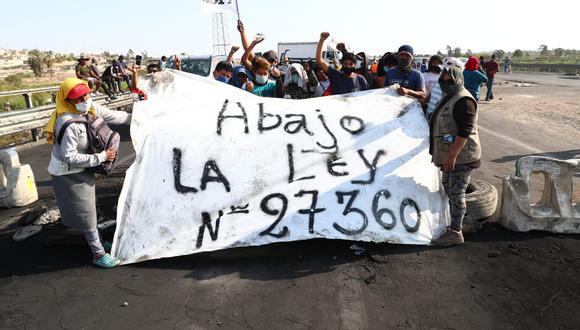 La semana pasada se desarrolló un paro agrario, exigiendo mejores condiciones laborales. La protesta terminó con la derogación de la Ley de Promoción Agraria. (Foto: GEC)