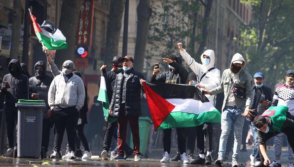 Demostraciones de apoyo al pueblo palestino en París, Francia. EFE