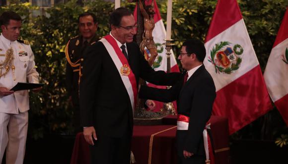 Edmer Trujillo se desempeña como ministro de Transportes y Comunicaciones por segunda vez en la gestión de Martín Vizcarra. (Foto: Hugo Pérez / GEC).