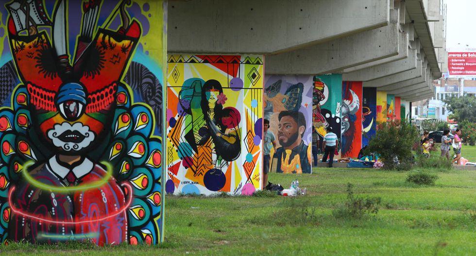 Más de 100 creadores se reunieron en San Juan de Lurigancho para pintar murales sobre danzas folclóricas. (Foto: Alessandro Currarino)