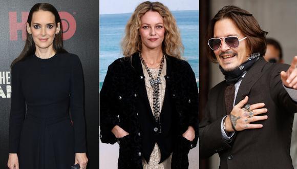 Winona Ryder y Vanessa Paradis aseguran que Johnny Depp no fue violento con ellas. (Foto: AFP)