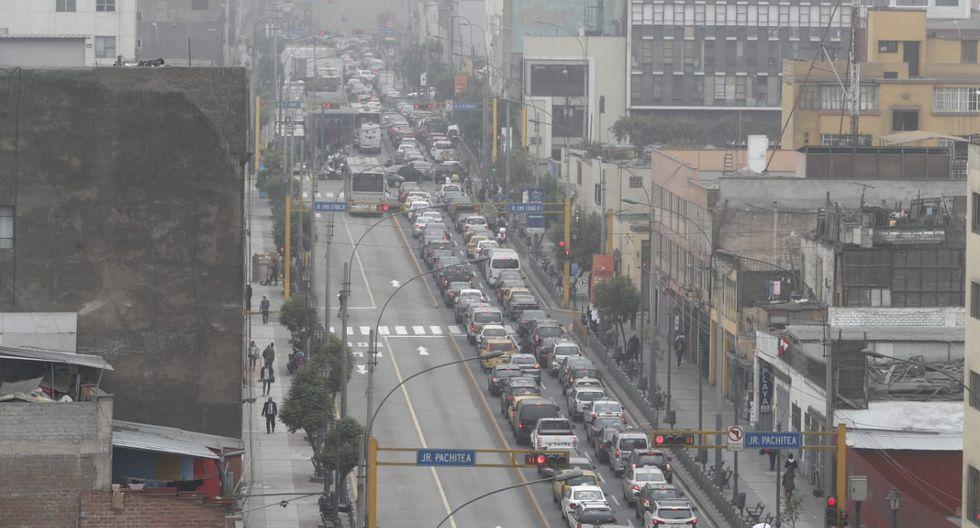 El jirón Lampa es uno de los más afectados por las restricciones para ingresar al Centro de Lima. (César Campos / GEC)
