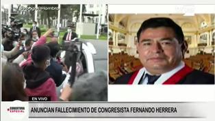 Anuncian el fallecimiento del congresista Fernando Mario Herrera Mamani en pleno debate por el voto de confianza