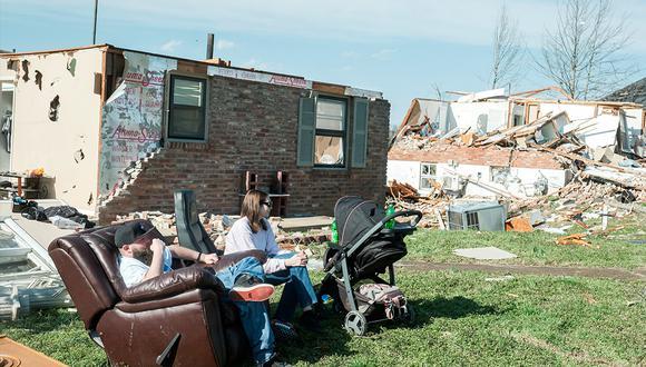 Tennessee se vio estremecido por el paso de tornados que han dejado por lo menos 25 personas muertas. (EFE)