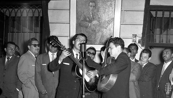 Así se celebró el Día de la Canción Criolla en 1960. Foto: GEC Archivo Histórico