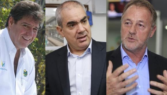 Los alcaldes distritales Juan Carlos Zurek, Manuel Velarde y Jorge Muñoz han anunciado que postularán a la alcaldía de Lima.