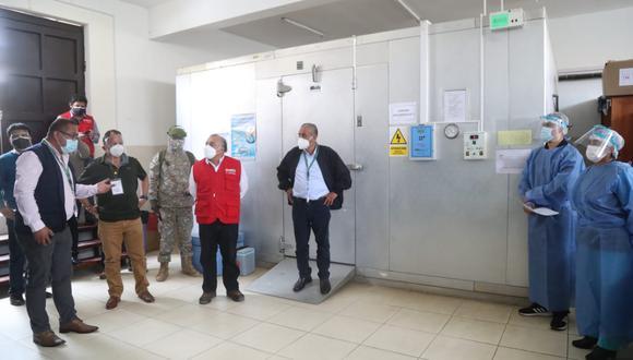 El titular del MTC, Eduardo Gonzáles, anunció que esta semana llegará el insumo químico a la región Amazonas. (Foto: MTC Perú)