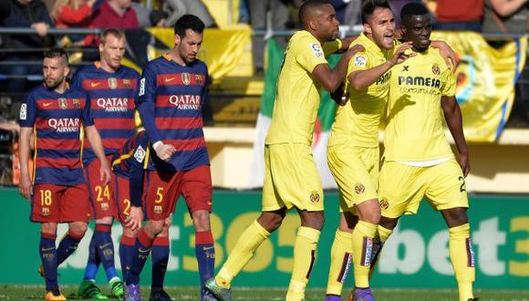 Barcelona se vio sorprendido y empató 2-2 frente al Villarreal