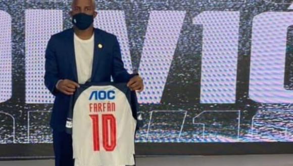 Jefferson Farfán fue presentado como nuevo jugador de Alianza Lima para la temporada 2021