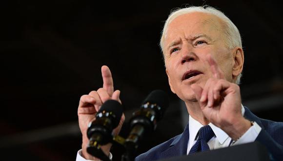 """Joe Biden señaló que los Rangers de Texas no están siendo """"responsables"""" al permitir que su cancha del Globe Life Field se llene al 100% en plena pandemia de coronavirus. (Foto: JIM WATSON / AFP)."""