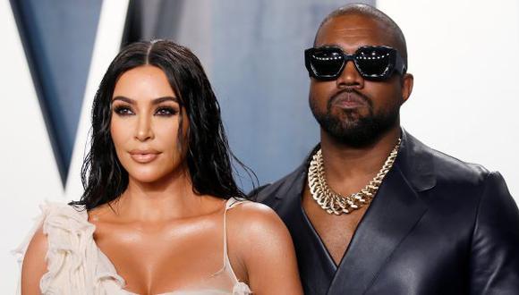 Kanye West con su esposa Kim Kardashian. (Foto: Agencias)
