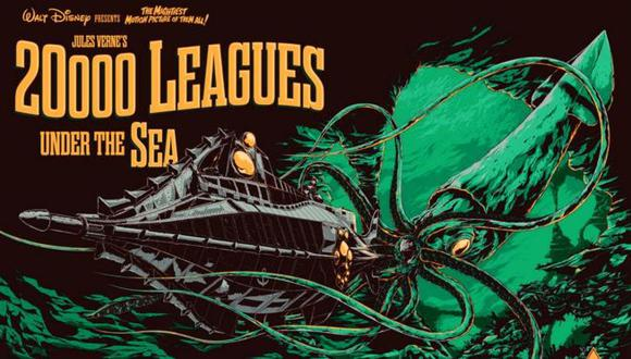 """""""Veinte mil leguas de viaje submarino"""" es una de las novelas más conocidas de Julio Verne."""