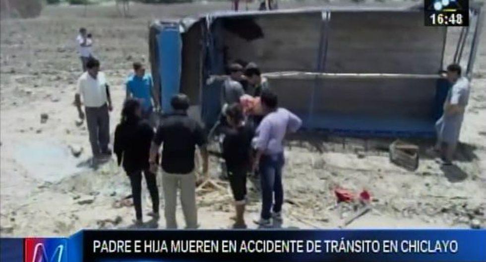 Niña de 7 años y su padre mueren tras choque de su motocicleta