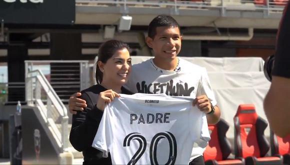 Edison Flores se enteró de su paternidad con esta sorpresa (Fofo: @dcunited)