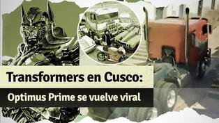 Transformers en Cusco: Optimus Prime tuvo otro percance y se vuelve viral