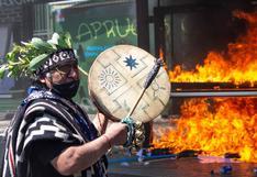 Protestas en apoyo a los mapuches durante el Día de la Raza en Chile   FOTO