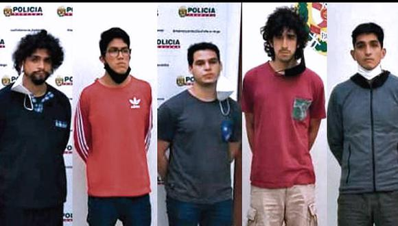 Acusados de participar en violación grupal seguirán el proceso en su contra en un penal de Lima. Todos fueron detenidos el último lunes en el distrito de Surco. (PNP)