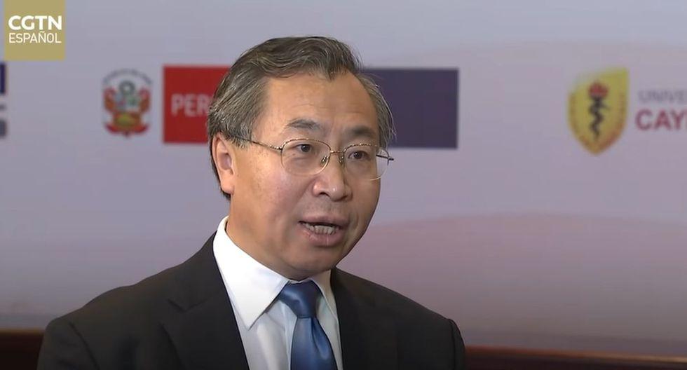 """Liu Jingzhen destacó que Sinopharm está trabajando con """"dos de las universidades más prestigiosas de Perú"""". (Foto: CGTN)"""