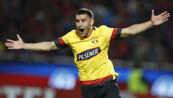 Leandro Martínez convirtió el 1-0 en el duelo frente a Cerro Porteño por Copa Libertadores | Foto: AP