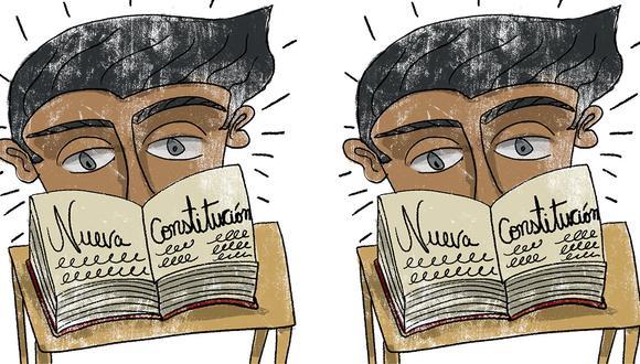 """""""Por lo pronto, nos corresponde estar en pie de lucha para defender el sistema que tantos beneficios ha generado y seguir explicando, hasta el cansancio, que la Constitución no es el problema"""". (Ilustración: Giovanni Tazza)"""