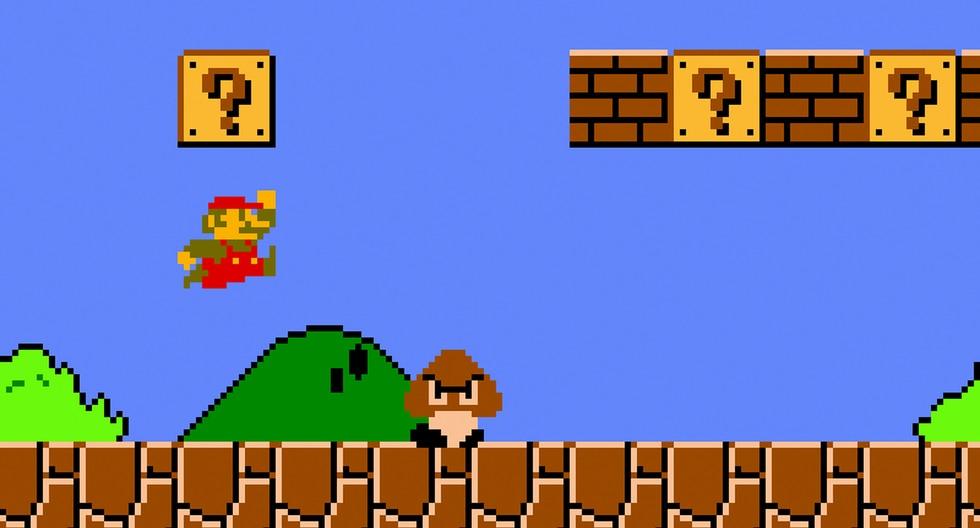 Super Mario Bros (1985). Primera entrega para consola casera (NES) de la franquicia. Es la primera vez que aparece Luigi y Peach.