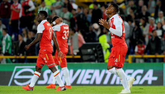 Atlético Nacional no pudo ante Santa Fe y cayó por el Torneo FOX Sports. El duelo se dio en el estadio Nemesio Camacho El Campín de Bogotá (Foto: agencias)