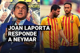 La respuesta de Joan Laporta a Neymar acerca del futuro de Lionel Messi