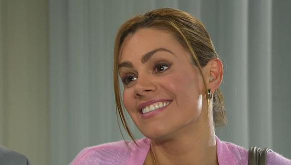 """Luz Elena González durante una escena en la novela """"Una familia con suerte"""",en la que interpreta a Chela (Foto: Captura de Las Estrellas)"""