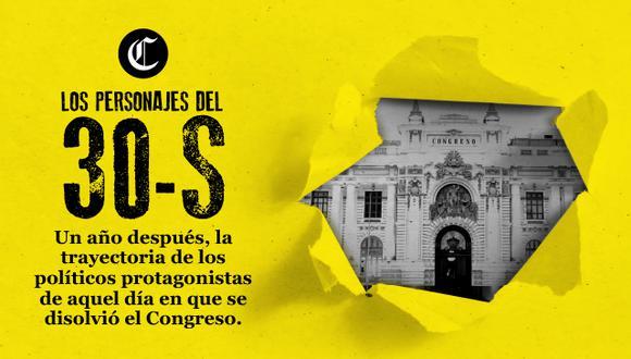 Un año después, la trayectoria de los políticos protagonistas de aquel día en que se disolvió el Congreso. (Foto: El Comercio)