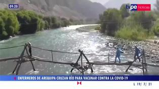 """Arequipa: Enfermeros llegan a los lugares más alejados para vacunar """"Lo hacemos por amor al prójimo"""""""