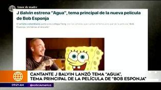 J Balvin lanza tema oficial de la nueva película de Bob Esponja