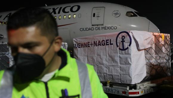 las primeras dosis del contrato que tiene México con el COVAX. (Foto: Reuters)