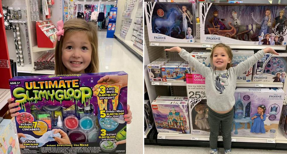 Una madre ideó una ingeniosa técnica para evitar que su hija le pidiera que le comprara todo lo que veía cuando iban a la tienda. (Foto: Kristina Watts en Facebook)